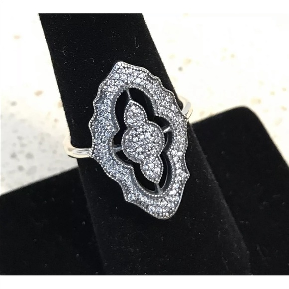 93ab99d9f Pandora Jewelry | Sparkling Lace Ring 190917cz | Poshmark